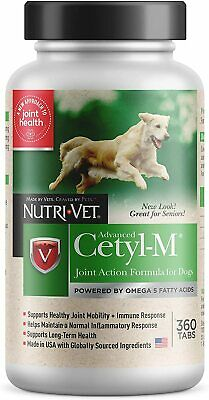 Cetyl M Advanced Joint Action for Dogs - Cetyl Myristoleate 360 Tablets