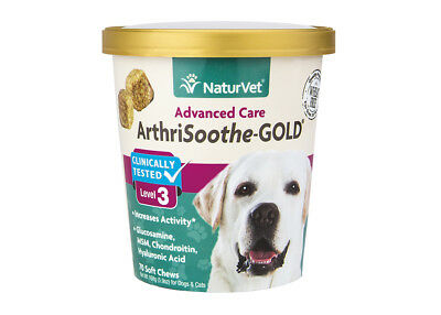 NaturVet ARTHRISOOTHE-GOLD LEVEL 3 Dog Soft Chew Hip and Joint Mobility 70 count