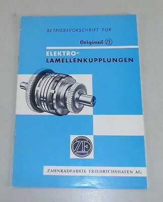 Operating Instructions Zf Electric Lamellenkupplung