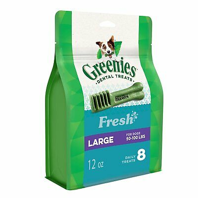Greenies Fresh Mint Large Size 8 count 12 oz | Dental Chew Treats for Dogs