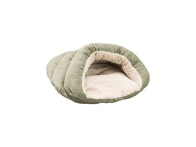 Ethical Pet Sleep Zone Cuddle Cave Sage 22 inch | Plush Faux Suede Pet Bed