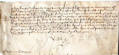 1500s, Veau, counsellor to King and member of Parlement of Paris, signed doc.