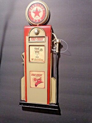 One Fire Chief Gas Pump With Star Metal Wall Decor Vintage Look