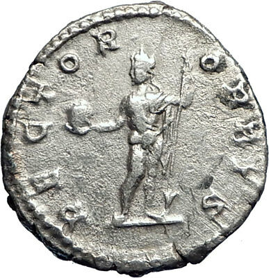 Caracalla as Nude Sol RECTOR ORBIS 201AD Rare Ancient Silver Roman Coin  i73386