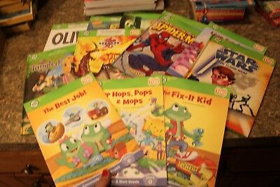 lot of 10 Leap Frog Tag Books Olivia Scooby Doo Star Wars Spider Man  f