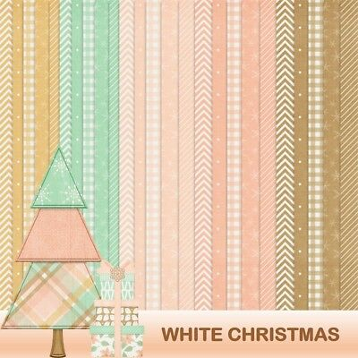WHITE CHRISTMAS - BASIC PATTERNS SCRAPBOOK PAPER - 25 x A4 pages