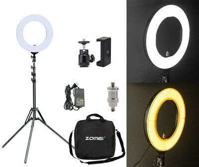 US 14inch LED Ring Light Stand 2700K Dimmable Lighting Kit F Makeup Phone Camera
