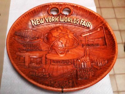 New York World's Fair Plate / Plaque Unisphere  By Us Steel Mint Metal Spring Wa