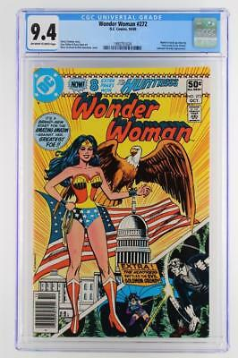 Wonder Woman #272 -NEAR MINT- 9.4 NM - DC 1980 - A Solomon Grundy App!!!