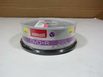 Maxell DVD+R 4.7GB, 16x, Write-Once Recordable Disc (Spindle Pack of 25) NEW PKG