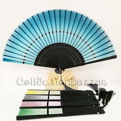 Chinese Style Linen Dancing Folding Hand Fan for Theatre Play/ Christmas Gift