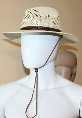 Stetson Genuine Vented Panama Straw Outdoor Fedora Hat Size Medium New 5077030ed65a