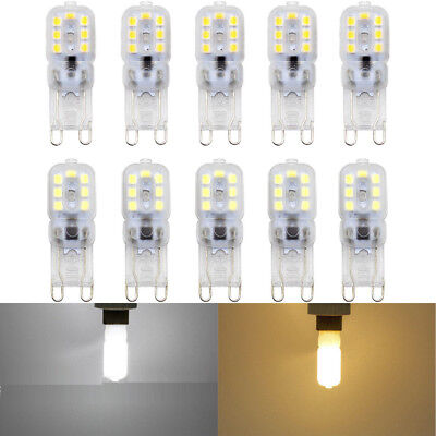 5Pcs Dimmable G9 5W Silicone Crystal LED Corn Bulb Spot Light White Lamp AC 220V