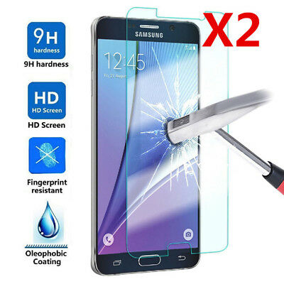 9H Tempered Glass Film Cover for Samsung Galaxy Note 5 8 9 Screen Protector 2pcs