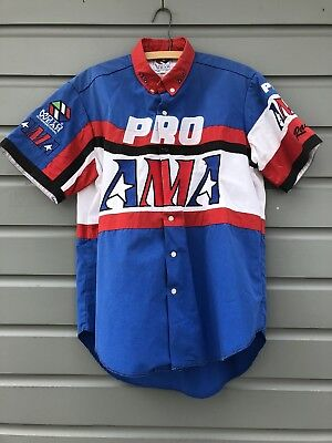 Vintage Motorcycle Racing Moto Wear Official AMA PRO Racing Shirt Jersey Size M