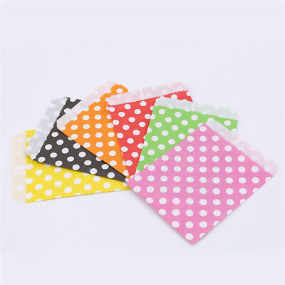 25pcs Wave Polka Dot Pattern Candy Gift Bag Wedding Party Paper Food Warp Bag CB