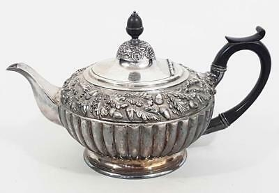 STUNNING ANTIQUE SILVER PLATED TEAPOT by JAMES DIXON & SONS 1870 tea set