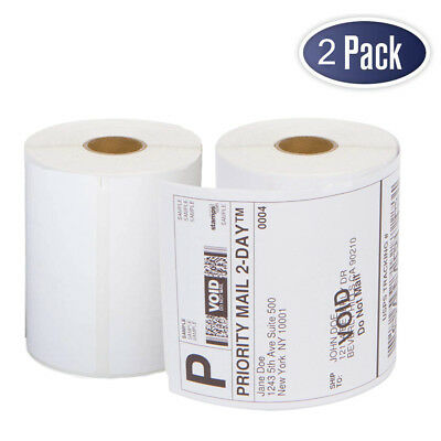 "2 Rolls DYMO 4XL Thermal Shipping Labels 4""x6"" 1744907 Compatible - 220/Roll"