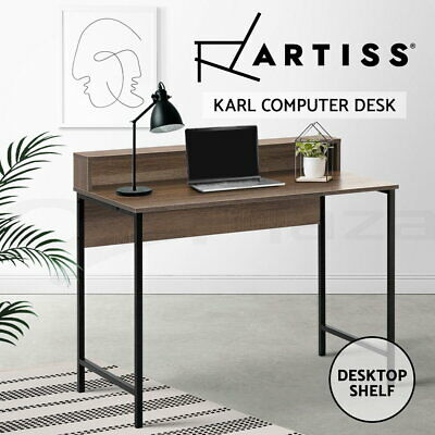 Artiss Computer Desk Metal Study Student Writing Office Table Cabinet Drawer