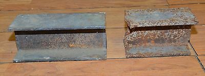 Blacksmith 18 lb two piece I beam anvil collectible forge blade making tool lot
