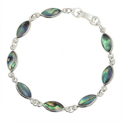 Tide Jewellery Inlaid Abalone Paua Shell Bracelet in Presentation Box