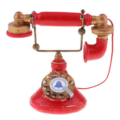 Vintage Antique 1950's Phone Retro Rotary Dial Telephone Ornaments 7111-33