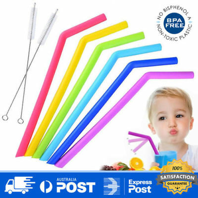 Reusable Drinking Straw Children Baby Kids 100% Safe Healthy BPA Free Food Grade