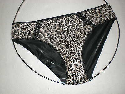 Neu Ultra Soft Pvc & Cotton Doppel Slip Lady Panties Brief M