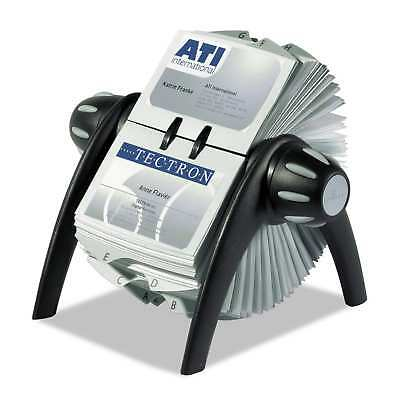Durable VISIFIX Rotary Business Card File Holds 400 4 1/8 x 2 7/8 Cards