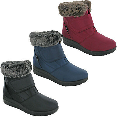 Womens Winter Boots Thermo Tex Snow Cushion Walk Warm Fur Lined Shoes UK 4-8