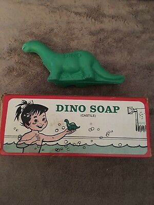 1960'S SINCLAIR DINO SOAP IN ORIGINAL BOX Brontosaurus Compliments Of Dealer