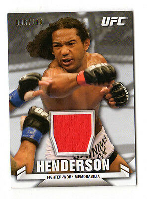 Benson Henderson  2013 Topps Ufc Knockout Fighter Relics #/188