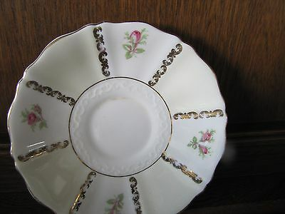 Fine Bone China Old Royal~Rose Panel~1X14cms Saucer