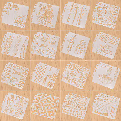Flower Girls Pattern Template Layering Stencils Drawing Accessories DIY Craft