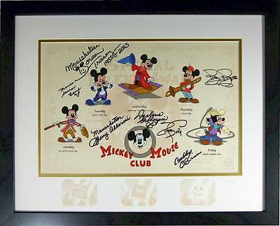 7 Signed DELUXED Mickey Mouse Club Disney Sericel BRAND NEW FRAME original 1950s
