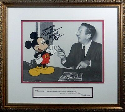 Making Magic Together Walt Disney & Mickey signed Voice Bret Iwan Cel Sericel