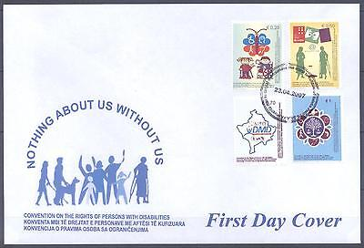 Kosovo 2007 Fdc Rights Of Persons With Disabilities Very Fine