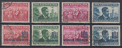 Lithuania 1918 : 1938 & VILNIUS 1939 Overprint Used Selection per scans