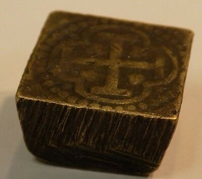 Spanish Colonial 1 Escudo or 4 Reale Coin Counterweight Antique Counterweights