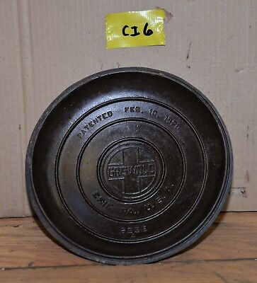 Griswold # 9 cast iron Tite Top Dutch Oven lid large logo 2552A collectible lid