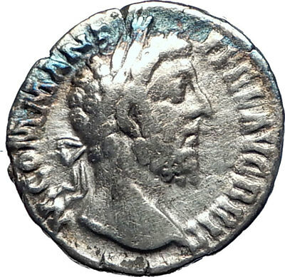 Commodus Marcus Aurelius son 188AD Silver Ancient  Roman Coin Liberty i73399