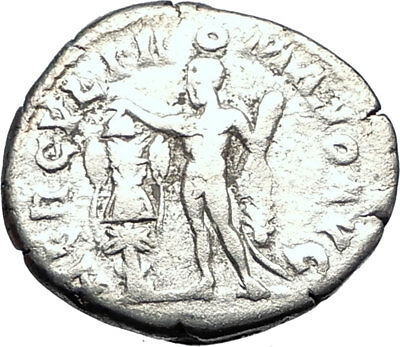 COMMODUS son of Marcus Aurelius 192AD Ancient Silver Roman Coin Hercules i73400