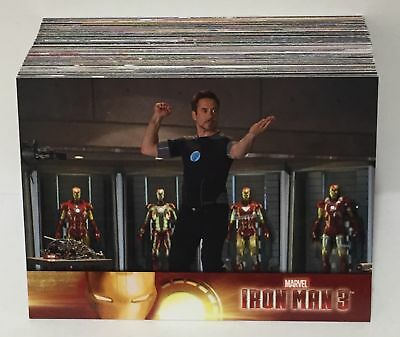 Iron Man 3 Movie (2013) BASE Trading Card Set (60 Cards) / ROBERT DOWNEY JR.