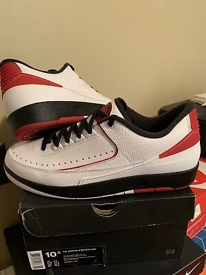 brand new 9fd2c e6010 AIR JORDAN RETRO 2 Low Men's Size 10.5 Chicago white red black lowtop ii  nike