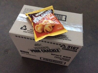 Pork Crackle Nobbys Spicy BBQ  25g, 20 packs in the box.