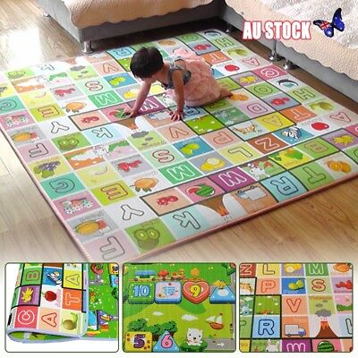 5200X180CM Kids Crawing 2 Side Soft Foam Educational Game Play May Picnic Cappet