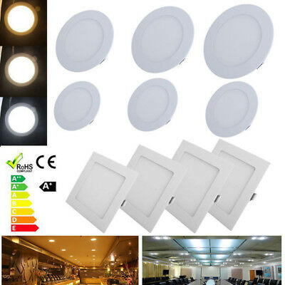 6/9/12/15/18/21W Dimmable LED Recessed Square Ceiling Panel Lamp Down Light