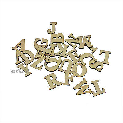 Wooden 26 Letters Words Wedding Birthday Party Shop Alphabet Self-adhesive Decor