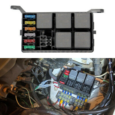 AUTOMOTIVE FUSE BOX 6 Relay Standard 6 Way Block Holders 5
