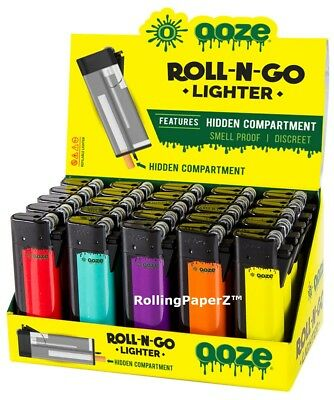 Ooze Roll-N-Go Refillable Lighter With Hidden Smell Proof Stash Compartment